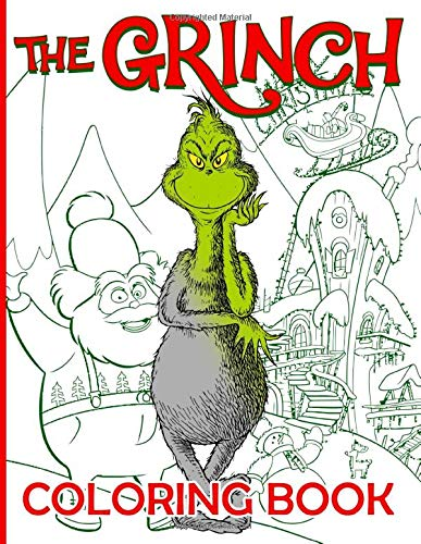 The Grinch Coloring Book: Coloring Books For Adults, Teenagers