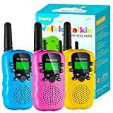 Upgraded Toys Walkie Talkie for Kids 3 Pack, Kids Walkie Talkie Toys for Boys and Girls, 3 Miles Long Distance Kids Two Way Radio with 22 Channels