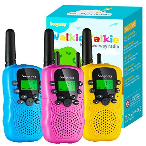 Upgraded Toys Walkie Talkie for Kids 3 Pack, Kids Walkie Talkie Toys for...