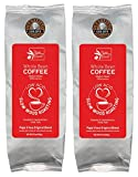 Papa Vince Mold Free Clean Whole Bean Coffee - Low Acid, No Bitter Aftertaste, Gentle digestion, NON GMO, Medium Roast, No Burnt Taste, 100% Arabica beans wood oven roasted in Sicily, Italy