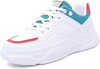 KINDOYO Womens Trainers - Beautiful Appearance Anti-Collision Toe Cap Sport Shoes Fashion White