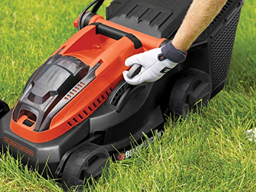 BLACK+DECKER CLM3820L2 Lithium-Ion Lawn Mower with Two 2 Ah Batteries, 36 V, Orange