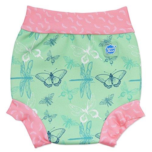 Splash About Baby Happy Nappy Wiederverwendbar Schwimmwindel, Grün (Libelle), Gr. Large (Herstellergröße: 6-14 Months)
