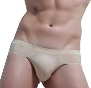 Men's Sexy Bikini Seamless Low Rise Ice Silk Briefs Breathable Underwear