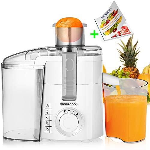 Monzana® Entsafter Saftpresse Edelstahl Juicer Obstpresse Fruchtpresse Zitruspresse I 670 Watt I bis 20000 U/min I inkl. extra Saftbehälter I für Obst und Gemüse I elektrisch