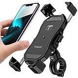 1S Tiakia - Soporte para teléfono celular para bicicleta y motocicleta, operación con una sola mano con rotación de 360 ° para smartphone de 4.7 a 6.5 pulgadas