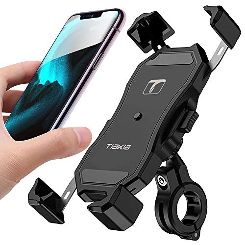 Save %17 Now! Tiakia Bike Phone Holder, Bicycle & Motorcycle Cell Phone Mount One-Handed Operation w...