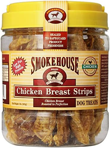Smokehouse 100 Percent Natural Chicken Breast Strips Dog Treats 1 Pound product image