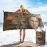Heath Ledger Toalla de secado rápido con bolsa de embalaje y mosquetón, adecuado para natación, camping, viajes, yoga, toalla de playa de microfibra