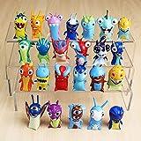 HUIQI Juguetes de Figuras de Anime,24 unids/Lote 5 cm Dibujos Animados Slugterra PVC Figuras de acción Juguetes muñecas niños