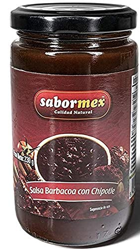 SABORMEX BBQ-saus met pikante chili chipotle voor Mexicaanse gerechten – 230 gr