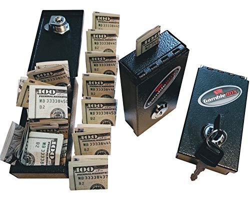 Gamble Box Metal Gambling Casino Cash Bank Box Stops Addictive Urges Best Gambling Tricks Tips Bring Home More Cash Leave Keys Home Fold Slip Some Cash Bills in Leave Casino's With Locked Up Cash