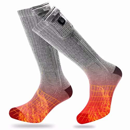 BARCHI HEAT 7.4V 2200MAH beheizte Socken, elektrische wiederaufladbare beheizbare Socken für den Wintersport Motorradfahren Skifahren Fußwärmer batteriebetriebene betriebene Socken