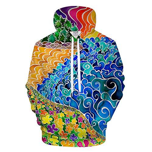 HNKPWY sweatshirt met capuchon en 3D-print voor dames en heren