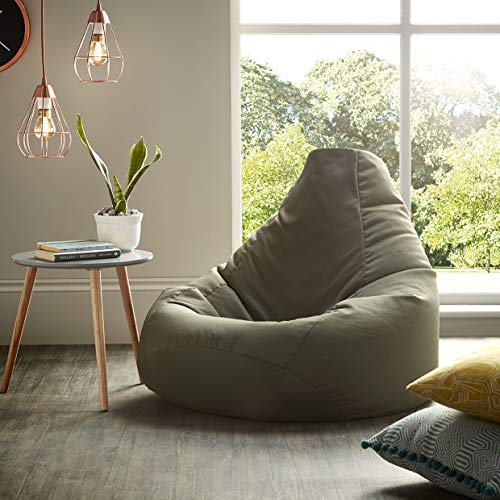 Beautiful Beanbags Adult Highback Beanbag Large Bean Bag Chair for Indoor and Outdoor Use - Water Resistant- Perfect Lounge or Gaming Chair - Home or Garden Bean Bag - Manufactured in UK - Olive