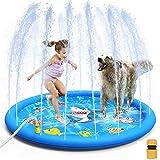 Rociadores piscina for niños, Splash Pad, Piscina for niños, inflables for niños Juguetes de agua estera del juego, al aire libre del patio trasero del partido Natación de Verano piscina de la fuente,