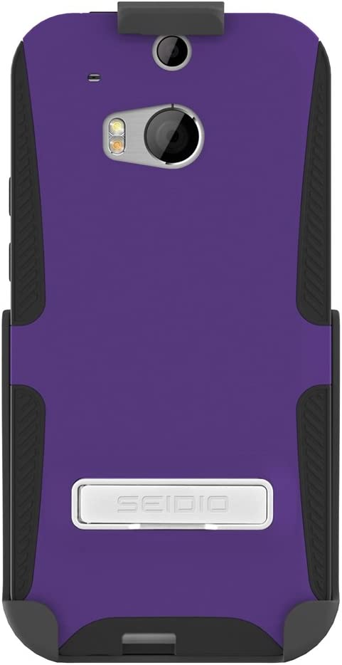 Seidio DILEX Case Louisville-Jefferson County Mall with Metal Kickstand and Holster 4 years warranty Combo for HTC