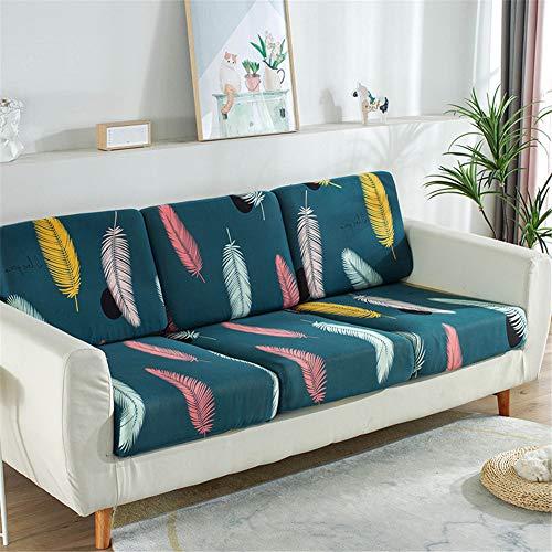 Fundas de cojín de asiento de sofá, fundas de cojín de reemplazo, fundas de cojín flexibles elásticas para cojines individuales (tamaño grande, 3 plazas, pluma)