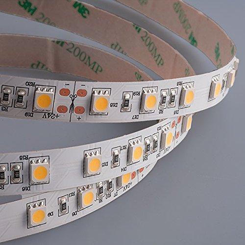 Preisvergleich Produktbild Mextronic LED Streifen LED Band LED Strip 5050 Warmweiß (2700K) 72W 500CM 24V IP20