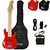 3rd Avenue STX30RDPK Pack Guitare Electrique Junior - Rouge