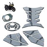 Etiqueta engomada de la decoración del Tanque de la Motocicleta Pegamento Suave Impermeable Autoadhesivo para Adhesivo de protección S-UZUKI DL250 Set de 5 Piezas,02