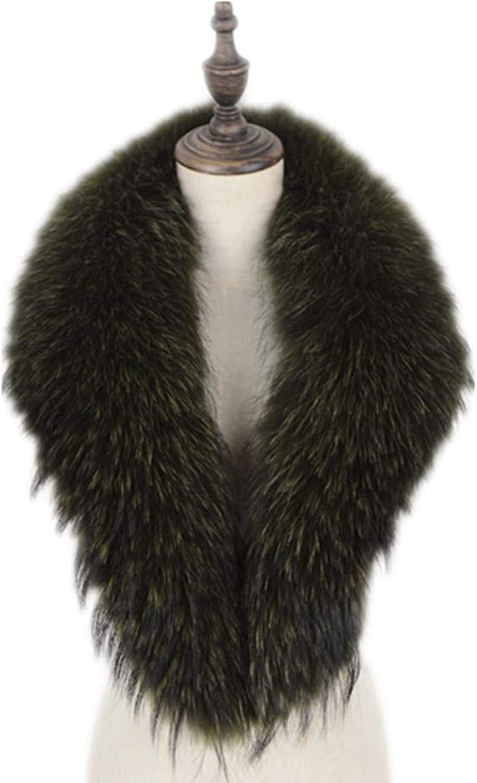 GEGEFUR Women's Long Detachable Genuine silver Fox Fur Collar Scarf Shawl Warmer Size 75100cm new
