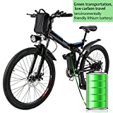 Kemanner 26 inch Electric Mountain Bike Foldable...