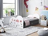 Happy Babies - Cama infantil de doble cara con cajón (160 x 80 cm), diseño moderno con bordes seguros y protección contra caídas, colchón de espuma