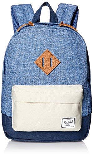 Herschel Supply Co. Patrimonio niños mochila, Limoges Crosshatch/Pelican/Navy/Tan Leather (azul) - 10313-01395-OS