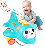 HISTOYE Baby Toys Airplane for 1 2 + Year Old, Musical Toy for Toddlers with Lights, Electronic...