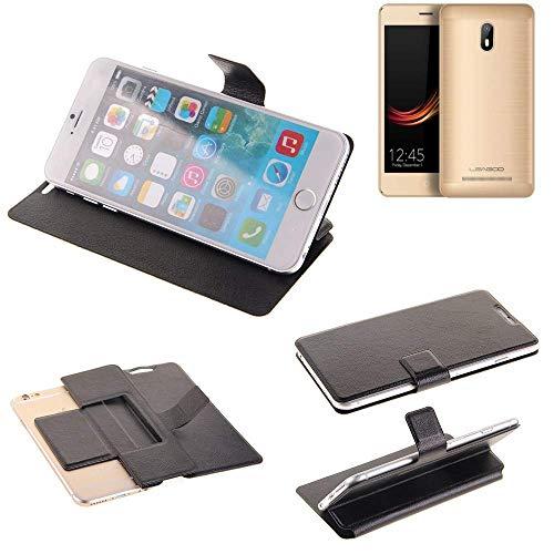 K-S-Trade® Handy Schutz Hülle Für Leagoo Z6 Flip Cover Handy Wallet Case Slim Bookstyle Schwarz