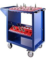 VEVOR CNC Alet Arabası BT40, CNC Alet Taşıyıcı 86,36 x 43,18 x 78,74 cm, Çelik Atölye Arabası ve 2 Muhafaza Kasesi, Mavi Alet Dolabı