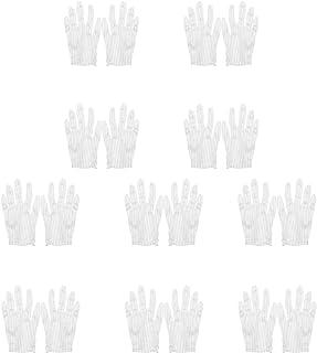 Guantes de algod/ón para mujer de algod/ón sin blanquear 5 pares reutilizables lavables