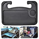 EcoNour Auto Steering Wheel Desk | Car Tray Table with Cup Holder | Steering Wheel Laptop Holder | Car Food Table Tray for Eating in Car | Travel Car Desk for Laptop | Portable Auto Truck Accessories