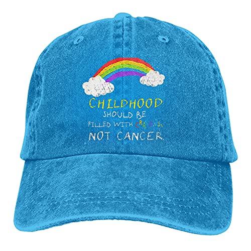 Leumius Crayons - Cappello da baseball regolabile, lavabile da cowboy, Blu, 7 / 7 1/8