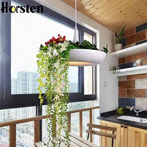 Temperament LED Opknoping Tuinen van Babylon Planten Lamp potten ingemaakte Nordic Tom Creative Witte Kroonluchter Verlichting Zonder planten en bloemen hjm grregsdv (Body Color : White)