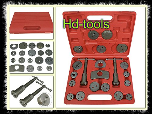 Disc Brake Caliper Piston Tool Kit 21pc Pad Car Wind Back Fit Almost All Cars - House Deals