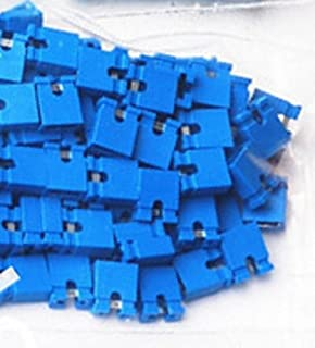 2.54mm Standard Computer Jumper Caps 100pack - Blue by CorpCo