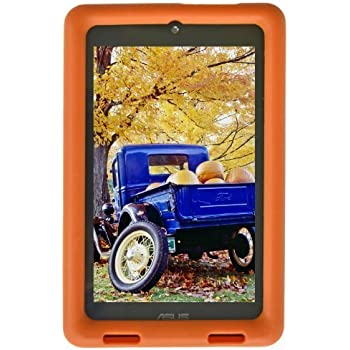 Bobj Rugged Case for ASUS MeMO HD 7 Models ME173X, ME173L, K00B (Not for MeMO 7 LTE) - BobjGear Custom Fit - Patented Venting - Sound Amplification - BobjBounces Kid Friendly (Outrageous Orange)