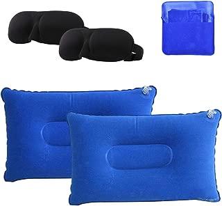 Amortiguador Inflable Almohada Inflable para Camping Picnic Azul 40 TOOGOO Almohadilla de Cara Double 25cm
