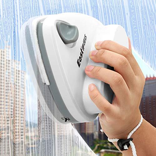 LZH FILTER Nettoyeur de vitres magnétique, Nettoyeur de vitres Double Face pour vitrage de Grande Hauteur avec Une épaisseur de 3 à 32mm avec Corde Anti-Chute