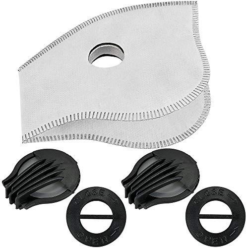 SKYSPER Staubmaske Atemmaske Fahrradmaske Verschluß Ventil Feinstaubmaske Fitnessmaske PM2.5 für Radsport Training (2pcs Filter) - 2