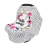 Cubierta De La Lactancia Del Bebé, CNNINHAO Nursing Cover Elástico Mantas de Lactancia Multi-funcional Funda de Enfermería de Privacidad para Bebés (Puntos negros)
