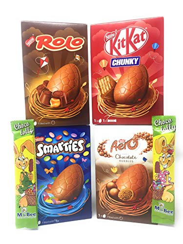 Nestle Chocolate Easter Eggs Bundle and Easter Bunny Chocolate Lollies (Nestle Chocolate Easter Eggs Bundle and Easter Bunny Chocolate Lollies (4 Box + 2 Choc Lollies ))