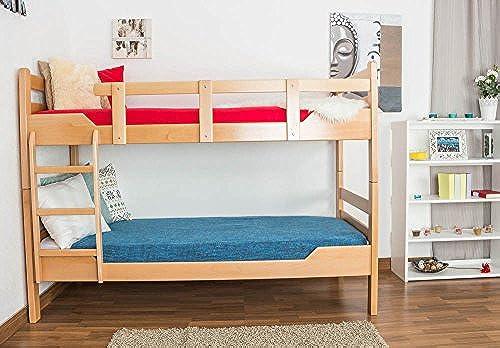 Etagenbett für Erwachsene Easy Premium Line  K12 n, Kopf- und Fu il gerade, Buche Vollholz massiv Natur - Ma  90 x 200cm  , teilbar