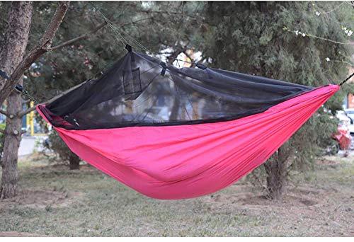 Camping-Hängematte, Mücken- Und Insektensicher, Leicht Zu Tragen, Ausdauernd, Stilvoll Und Schön,Pink