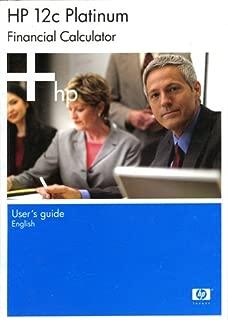 HP 12C PLATINUM Financial Calculator User's Guide