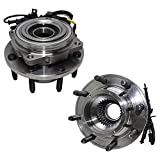Detroit Axle - Front Wheel Hub & Bearings Replacement for 2005-2010 Ford F-250/F-350 Super Duty [SRW ; 4WD w/ABS] - 2pc Set