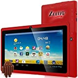 7inch Kids Tablet Google Android 4.4 Quad Core Multi-Touch Screen 4GB Hard Drive Zeepad (7DRK-Red-4GB)