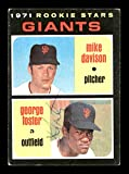 George Foster Autographed 1971 Topps Rookie Card #276 San Francisco Giants SKU #178492. rookie card picture